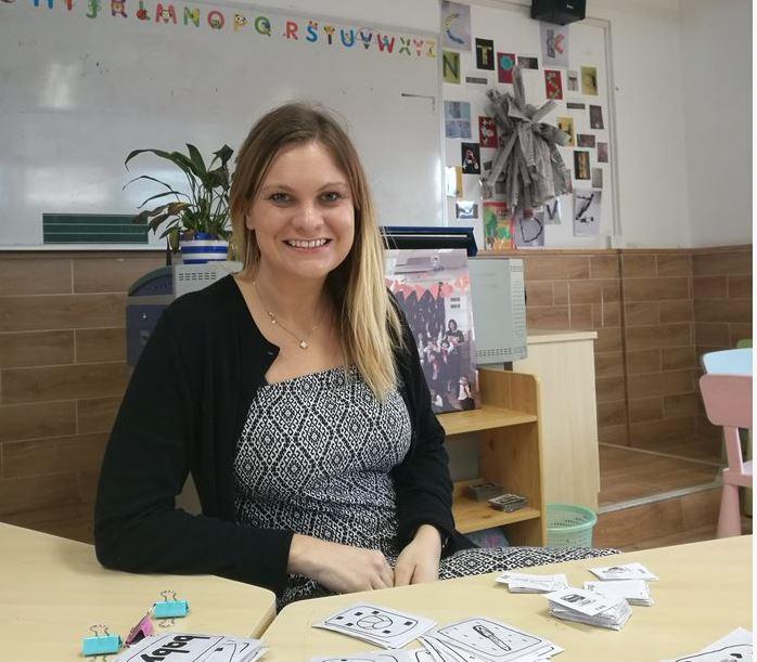 Ms. Hilt in her Shunde Elementary classroom