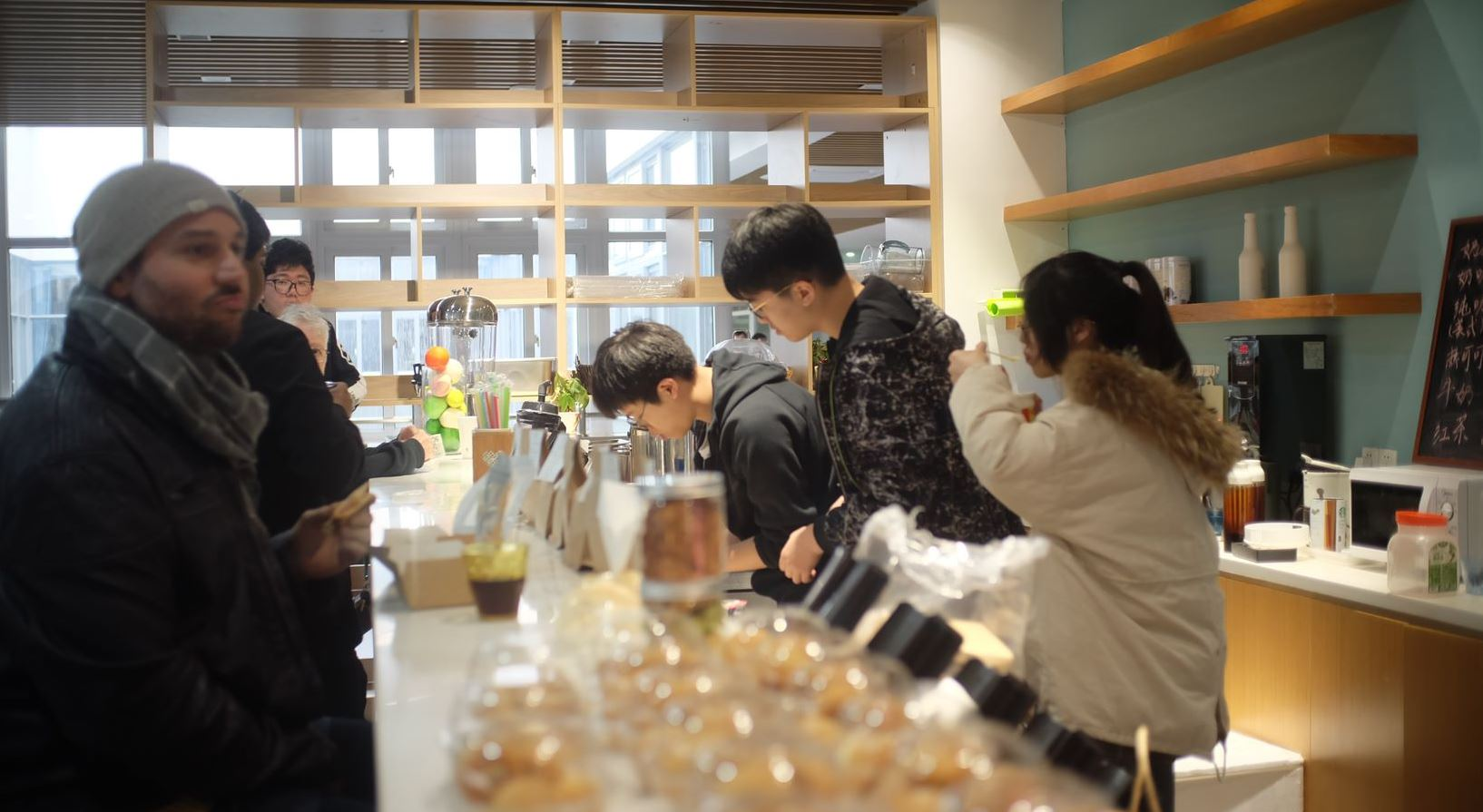 International High School Students Open Cafe Bar