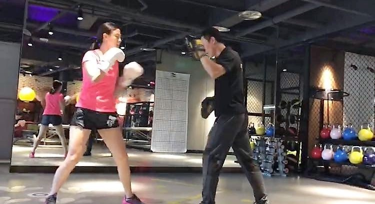 KLIS Head of Operations Boxing with Trainer in Chongqing